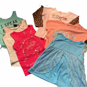 Girls Tanks and Tees Bundle of 6 Items Size 5